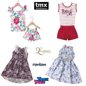 Kit Lote 05 Roupas Infantil Menina Conjuntos/vestido 04 Anos
