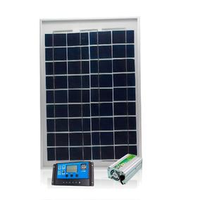 Kit Placa Painel Solar 10w Inversor Controlador 12v 110 300w