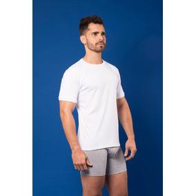 Camiseta Santana Cuello Redondo Manga Corta Blanca Hombre