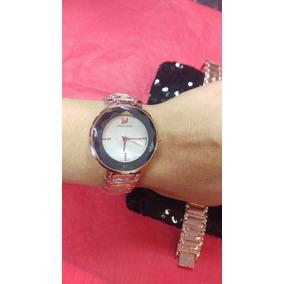 Hermoso Elegante Reloj Swarovski Blanco Envio Gratis
