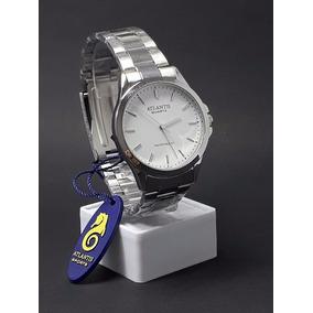 18c9dd3b978 Relógio Masculino Atlantis Original Prata Aço Homem Pesado
