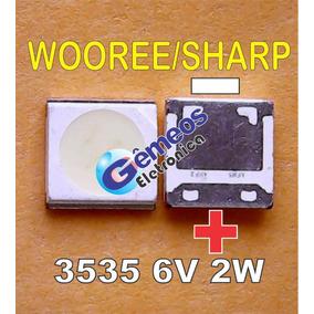 Led Smd Lg Philips 6v 2w 3535 Wooree/invertido (kit 85 Pçs)