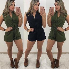 Macação Macaquinho Tendencia Modelo Verão 2019 Blogueira