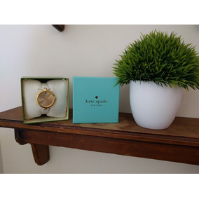 Reloj Kate Spade Hermoso Extensible Blanco Dorado Catarula D