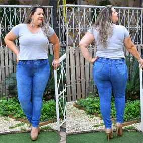 Legging Plus Size Cintura Calça Jeans Roupas Femininas Linda