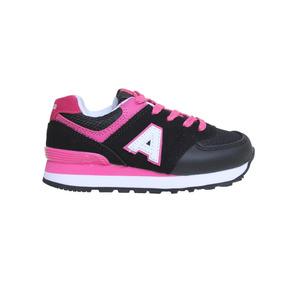 Zapatillas Addnice Moda R.color Ii Kids Cordon Niña Ng/fu