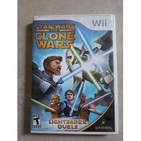 Jogo Star Wars The Clone Wars Lightsaber Duels Nintendo Wii