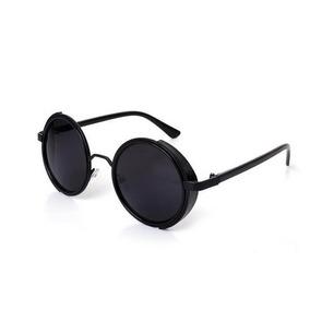 d3d1ccb21b1eb Óculos De Sol Redondo Feminino Masculino Steampunk Vintage