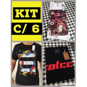Kit 6 Camisetas Grife Originais Camisas Marcas Atacado