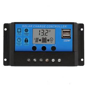 Controlador De Carga Solar 30a Pwm Lcd Usb Regulador