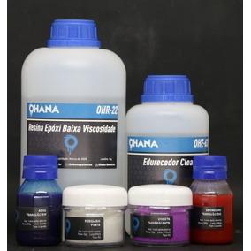 Resina Epoxi P/ Madeira E Artesanato Kit 1,5kg + 4 Pigmentos