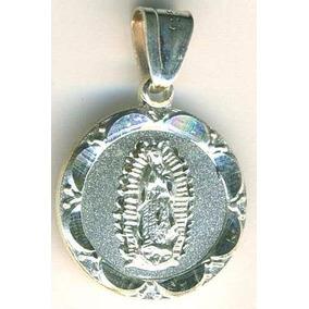 Medalla De La Virgen De Guadalupe Con Onditas Plata 925