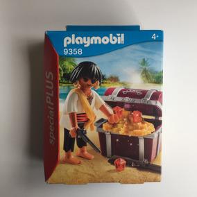 Playmobil 9358 Special Plus Pirata Com Baú Geobra