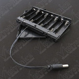 Caja Porta Baterías Aa X8 Con Tapa Y Conector Jack 2.1mm