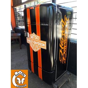 Heladera Harley Davidson Barberia Barbacoa Barra Movil Bar