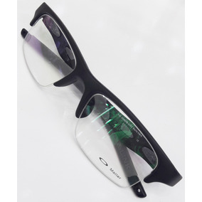 Armação Óculos Grau Crosslink Meio Aro Nylon Haste Removivel b5dcc46999
