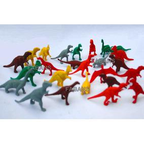 Juguete Dinosaurios Set 24 Piezas Rex Triceratop Niño Fabans