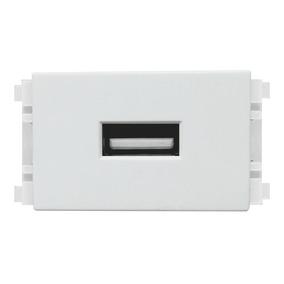 Toma Conexion Usb 1 Modulo Policarbonato Color Blanco Igoto