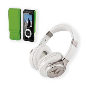 Mp4 32 Gb + Audifono Motorola Pulse Max White