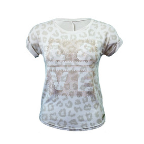 Blusa Feminina Animal Print Com Brilho - Marialicia
