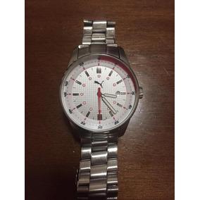 43d3f64bb0b Relógio Puma Prata E Branco Aço Inox Analógico Seminovo Rari