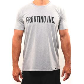 Franela Tipografía Negro - Frontino Inc. - Crossfit - Gris