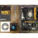 Placa Mãe Mineração Biostar Tb250-btc Pro Com Processador