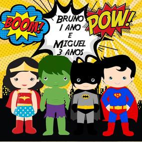 100 Adesivos Caixinha Super Herois Personalizado