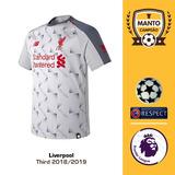 5d7adeb128 Camisa Liverpool 2018 2019 Third Uniforme 3 Salah Firmino