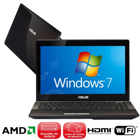 Notebook Asus Amd Hd320gb Memoria Ram 4gb Oferta
