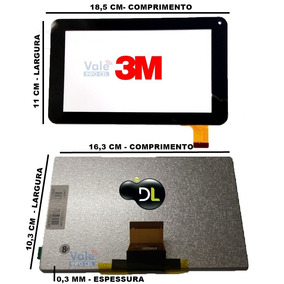 Display Lcd 093+tela Touch Lcd 075 Tablet Dl Original!!