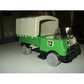 Brinquedo Antigo Anos 80- Playmobil Troll Caminhão Policia