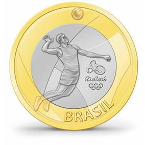 Moeda - Vôlei - Olimpíadas Rio 2016 - Frete Grátis