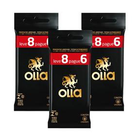 Kit Olla Preservativo Leve 8 Pague 6 Com 3 Packs