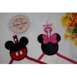 Matriz De Bordado, Porta Chupeta Mickey E Minnie