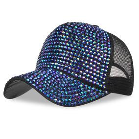 Tapa Béisbol Malla Ajustable Diamante De Imitación Sombrer 3a6f7595367