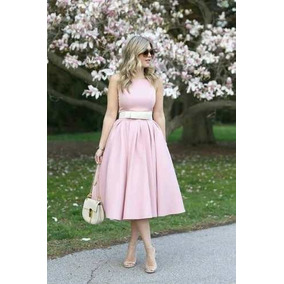 Vestido Midi Moda Evangelica Com Laço Cod#322