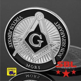 Moeda Maçônica Comemorativa Maçonaria Freemason