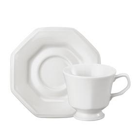 Xícara Chá Com Pires 200ml Branco Prisma Schmdit