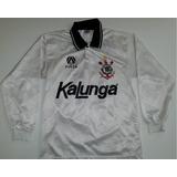Camiseta Corinthians Anos 1990 Kalunga Manga Longa Finta- L2 2dcfbe71ffab0