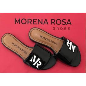 Chinelo Slide Morena Rosa Shoes Enfeite Emborrachado