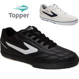 20%off Chuteira/tênis Futsal Topper Dominator Preto / Branco