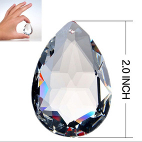 1 Piedra Lagrima De Cristal Cortado D 50 Mm Candil, Cortina