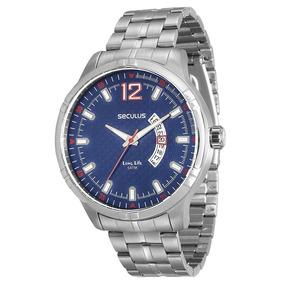 ccea9eb31f8 Relógio Masculino Seculus Analógico 20354g0svnc1 Azul - Relógios De ...