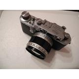 Exquisita Cámara Leica Iiia (3a) + Lente Canon Ltm 50mm F1.4