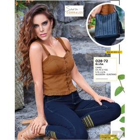 Blusa Casual Para Dama Color Camel 028-72 Cklass 1-19