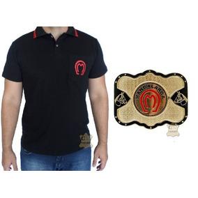Kit Camisa Mangalarga Preta + Fivela Cowboy Oferta deb99de6e8c