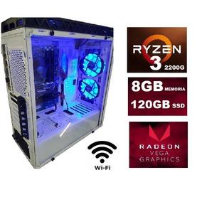 Cpu Gamer Ryzen3 2200 Vga Vega 2gb 8gb Ssd 120gb Wifi Window
