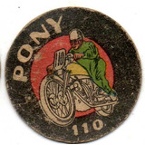 Figurita Motociclista Album Pony Año 1946 Num 110 Monofco