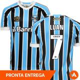Camisa Grêmio Nº7 Luan Tricolor Titular 2018 2019 - Oficial b24e927f96b7c